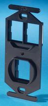 TracJack 106-Type Frame, Three-Port, Black