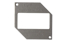Thermoplastic/Heavy Cast Aluminum Cover Spec Grade Mounting Plate, Gray
