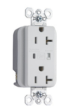 Specification Grade Duplex Surge Protector Outlet (White)