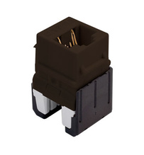 Cat 6a Quick Connect RJ45 Keystone Insert, Brown