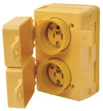 15A, 125V Watertight Duplex Receptacle, Yellow