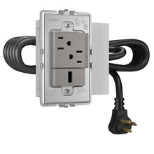 Furniture Power, Outlet and USB port, Magnesium