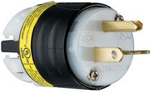 20A, 250V EHU GCM Plug, Black & White