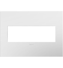 Gloss White-on-White 3-Gang Wall Plate