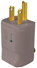 15A, 125V Hospital-Grade MaxGrip M3 Plug, Gray
