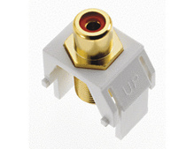 Red RCA to F-Connector, White