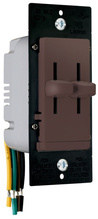 LS TradeMaster Series Dual Slide-to-OFF Incandescent Dimmer, Brown
