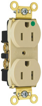 Heavy-Duty Hospital Grade Smooth Face Receptacles, Back & Side Wire, 15A, 125V, White
