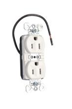 PlugTail® Tamper-Resistant Split Circuit Spec Grade Receptacle, 15A, 125V, White