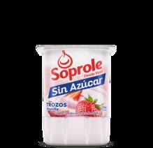 Soprole Sin Azúcar Yoghurt Trozos Frutilla 155g