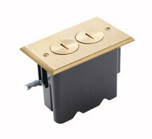 Round USB Outlet Floor Box Kit  - Nickel