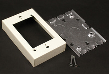 Wiremold 500/700 Series Shallow Switch and Receptacle Box Fitting, Ivory