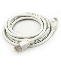7 Foot Cat 6 Patch Cable, White