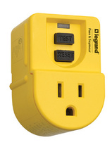 Portable 15A GFCI Outlet Adapter, Manual Reset