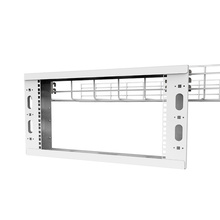 Q-Series Overhead Cable Pathway Rack -  4RU -  White