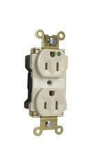 PlugTail® Extra Heavy-Duty Hospital Grade Illuminated Receptacles, 15A, 125V, Gray