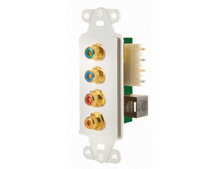 PRE CONFIG C5E COMPONENT VIDEO W/** DIGITAL AUDIO STRAP WHT (NEED 2)