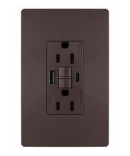 radiant® 15A Tamper-Resistant Self-Test GFCI USB Type-AC Outlet, Dark Bronze