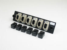 6-MPO multimode beige feed-through adapters, type A