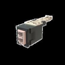Infinium HD Fiber Module, Keyed Front Non-Keyed Rear LC Duplex (2 Fibers), HDJ Insert, Rose Adapter Fog White for Panel