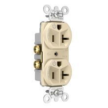 20A, 125V Dual-Controlled Plug Load Controllable Receptacle, Ivory
