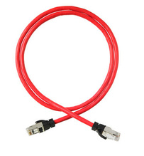 Clarity CAT6A Shielded Patch Cord, 7', Red
