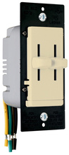 LS TradeMaster Series Dual Slide-to-OFF Incandescent Dimmer, Ivory
