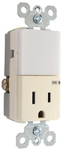 Night Light with Single 15A Tamper-Resistant Outlet, Light Almond