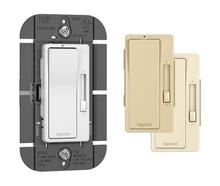 120V, 1100VA Magnetic Low-Voltage Single Pole/3-Way Dimmer, Tri-Color (Ivory, White, Light Almond)