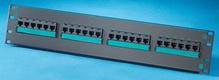 Clarity 5E 24-port panel - Cat5e - six-port modules - 19 in x 3.5 in