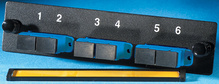 3-SC-Duplex (six fibers) single mode adapters with ceramic alignment sleeves