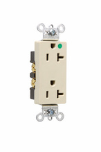 Heavy-Duty Decorator Hospital Grade Receptacles, Back & Side Wire, 20A, 125V, Light Almond