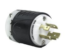 20 Amp NEMA Plug L1820 - Black Back, White Front Body