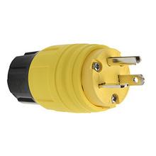 20A, 125V Watertight Straight Blade Plug, Yellow