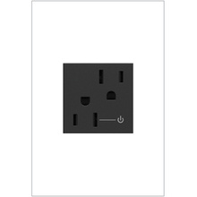 15A TR HALF CONTROLLED OUTLET, GRP GRAPHITE