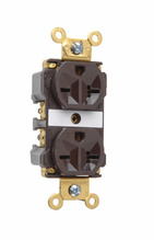 Industrial Extra Heavy-Duty Spec Grade Receptacles, Back & Side Wire, 20A, 250V, Brown