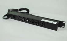 Rack Mount 120V/20A/6 rear O/L /lighted switch/15' cord