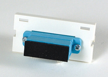 Series II Module, 1-SC Duplex (2 Fibers) Multimode, Aqua adapters, 180 degree exit