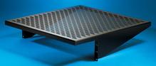 Vented Equipment Shelf - Fixed - 17.5 W x 4 in H x 18 in D - black