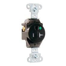 Hospital Grade Single Receptacles Tamper Resistant, Back & Side Wire, 20A, 125V, Brown