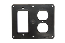 2-Gang 1-GFCI and 1-Duplex Cover Plate, Black