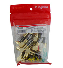 Compression RG6U/Quad Shield Right Angle RCA Plug