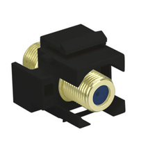 Recessed Self-Terminating F-Connector, Black