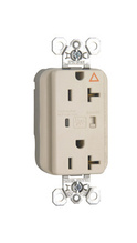 PlugTail® Isolated Ground Surge Protective Duplex Receptacle, Light Almond