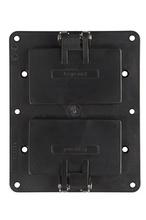 2-Gang Flip Lid 2-GFCI Cover Plate, Black