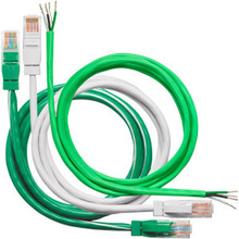 RJ45 Cables, 6 inches, non plenum rated Green