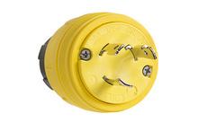 Watertight NEMA 4X/6P Locking Plug, Yellow