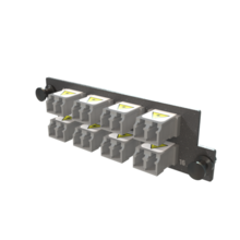 Infinium M4 HDFP Adapter Panel, 8 Keyed Front Non-Keyed Rear LC Duplex Adapters, 16 Fibers, Gray
