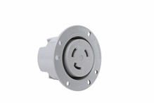 30 Amp NEMA L630 Flanged Outlet, Gray