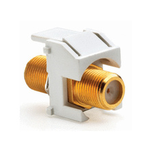 Recessed Gold F-Connector, White